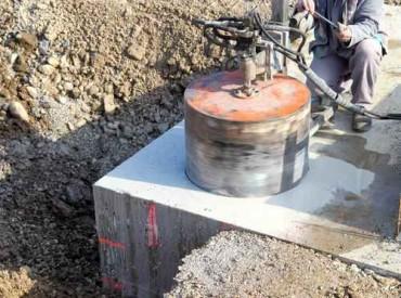 pionowe wiercenie w betonie